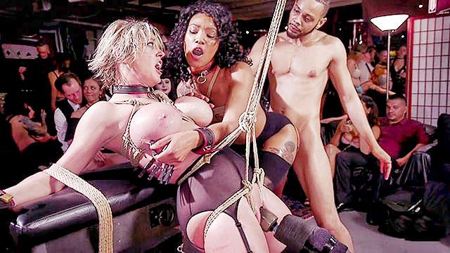 100 оргазмов во время бдсм оргии с рабынями и их хозяевами